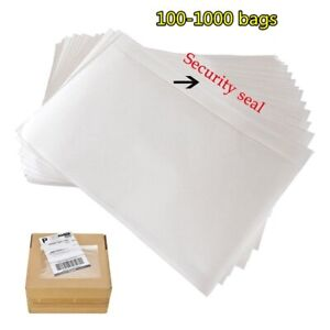 100 1000 7 5x 5 5 Clear Adhesive Top Loading Packing List Label Invoice Envelope