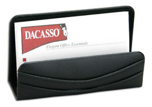 Dacs a1007 a1007 classic black leather business card holder