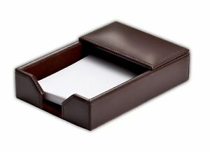 A3609 econo line dark brown leather 4 x 6 memo holder