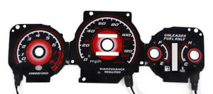 Type R Red Glow 97 01 Honda Crv Cr v Jdm Auto At Gauge Face Overlay New