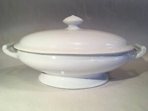 Antique Jacob Furnival Co Ironstone China Vegetable Tureen England