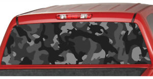 Urban Camo Black Rear Truck Window Graphic Decal Tint Suv Ute Camouflage Pickup