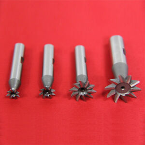 4 Pc 45 Degree Dovetail Cutter Set 3 8 1 2 3 4 1 High Speed Steel Hss Milling