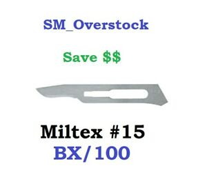 Integra Miltex 4 115 15 Carbon Steel Surgical Blades 100 bx Sterile Kai Medical
