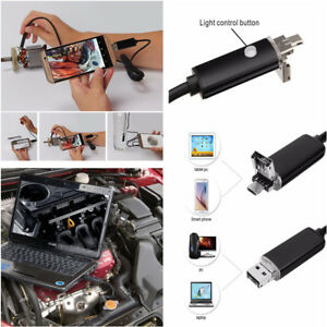 5m 7mm 6led Android Pc Hd Endoscope Snake Borescope 2 In 1 Usb Inspection Camera