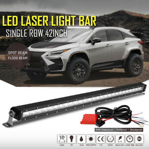 42inch Led Light Bar Combo Wiring Harness Switch Truck Atv 4x4wd Offroad Suv 40
