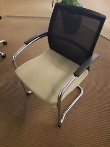 Guest Chair By Knoll W Mesh Back And Chrome Legs