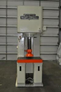 50 Ton Denison C frame Hydraulic Press 15 Stroke 24 1 4 Daylight 12 Throat