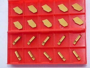 20x Inserts For Prick Gtn 4 P35c Tin Coating For Steel And Stainless Steel