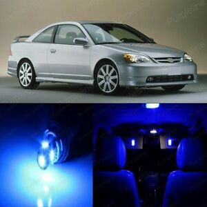 8 X Blue Led Lights Interior Package For Honda Civic 2001 2005 Pry Tool