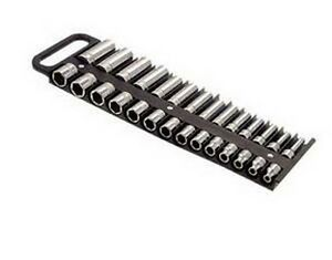 Large Magnetic 3 8 Socket Tray Black Lis 40210 Brand New
