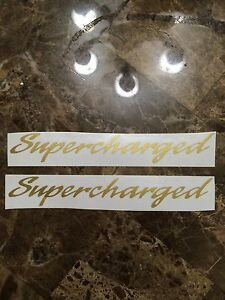 Nos Mustang Supercharged Decal Sticker For 89 98 Gold Saleen Gt Cobra Roush