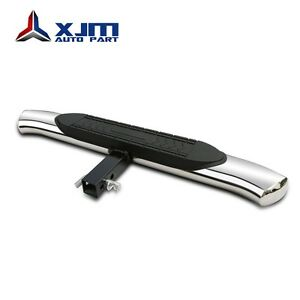 Stainless Universal 5 Oval Hitch Step For Vehicles With 2 Receiver Guard Bumper