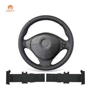 Black Artificial Leather Steering Wheel Cover For Bmw 5 Series E39 M3 Z3 E36 8