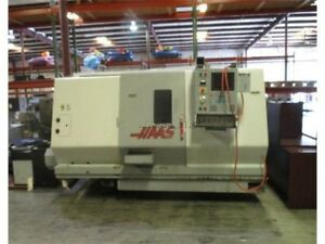2000 Haas Sl 30t Cnc Lathe Chip Conveyor With Tailstock