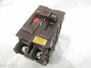 Wadsworth 30 Amp 2 Pole Hacr Circuit Breaker Big Body 30a Small Chips
