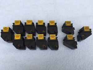 lof Of 12 Sandvik Coromant Bts Lathe Tool Holders All Missing Holders Used
