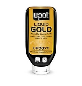 Liquid Gold Pourable Glazing Putty Gold 21 Oz Upl up0670 Brand New
