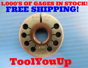 3 4 16 Unf 2a Thread Ring Gage 75 Go Only P d 7079 Inspection Tooling Tools