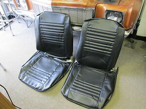 1967 67 Chevelle Malibu New Pair Of Black Bucket Seat Covers Pui Quality