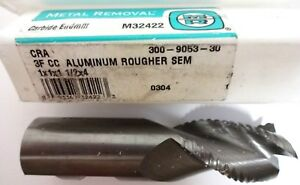 Metal Removal M32422 1x1x1 1 2x4 3f Roughing End Mill For Alum