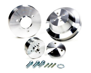 March Performance Aluminum Bbc Serpentine Performance Series Pulley Kit P n 7610