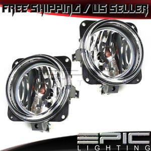 2002 2006 Ford Escape Focus Mustang Lincoln Ls Pair Fog Lights Clear Lens