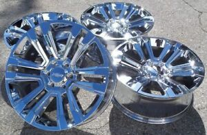 22 Chrome Chevy Silverado Tahoe Gmc Sierra Cadillac Escalade Wheels Rims New