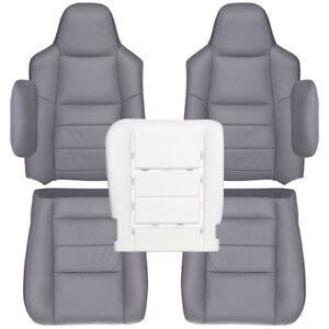 2002 2007 Ford F250 f350 Lariat Crew Cab Factory Match Seat Cover gray Leather