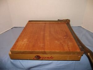 Vintage Wooden Ingento No 4 Paper Cutter Made In Usa