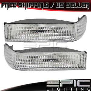 1993 1996 Jeep Grand Cherokee Corner Parking Signal Lights Left Right Pair
