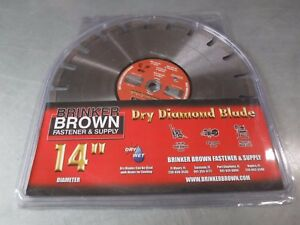 New Brinker Brown Star Blue 14 X 125 Concrete Diamond Blade 1801894