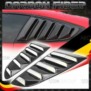 Glossy Real Carbon Fiber Side Vent Window Scoop Louver For 15 17 Ford Mustang