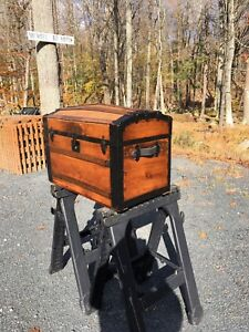 Antique Steamer Trunk Beautifully Restored Lots Of Originality