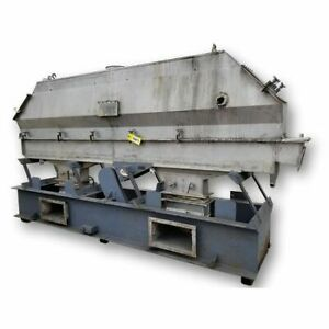 Used Witte Fluid Bed Dryer Cooler 12 Wide X 144 L Stainless Steel Vibratory