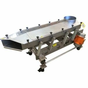 Used Meyer Machine 18 w X 4 6 l Portable Stainless Vibrating Feeder Conveyor