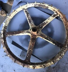 Vintage Farm Equipment Planter Wheel Gear 18 Diameter