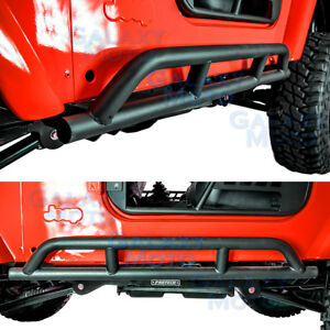 New 1 Set Rock Crawler Side Slider Armor Rocker Guard For 97 06 Jeep Wrangler Tj