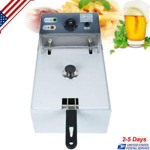 5 5l Electric Countertop Deep Fryer Commercial Basket French Fry Restaurant2500w
