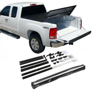 Fit 2007 2013 Chevy Silverado 8ft Bed Tri fold Lock Soft Tonneau Cover Assemble