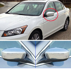 Fit 2008 2009 2010 2011 2012 Honda Accord Chrome Mirror Covers