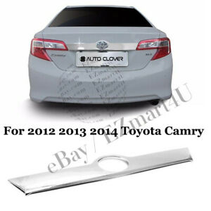 Fit 2012 2013 2014 Toyota Camry Chrome Cover Tailgate Trunk Lift Handle Bezel