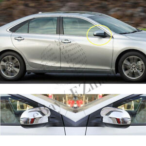 Fit 2012 2013 2014 2015 2016 2017 Toyota Camry Chrome Mirror Covers