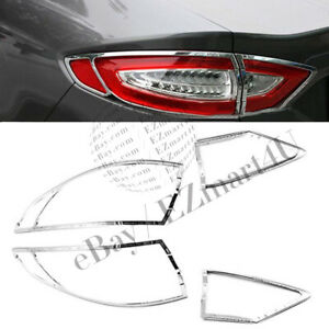 Fit 2013 2014 2015 2016 Ford Fusion Chrome Tail Light Cover Bezel Molding
