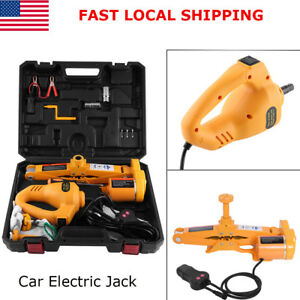 12v Automotive Electric Car Lifting Jack With Controller Impact Wrench 3 Ton