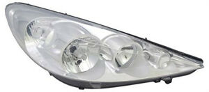 Right Side Chrome Headlight For Peugeot 206 T3 From 1 09 H1 H7 Halogen