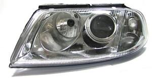 Clear Chrome Finish H7 Left Side Headlight Light For Vw Passat 3bg B6 00 05