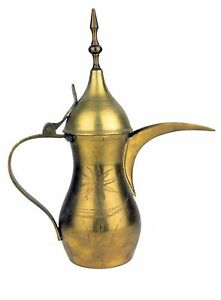 Antique Vtg Arabic Middle Eastern Turkish Brass Tin Coffee Dallah Tea Pot 11