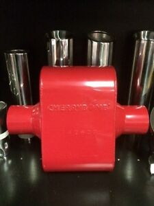 Cherry Bomb 7428cb Extreme Red Performance Race Muffler 3 Inlet