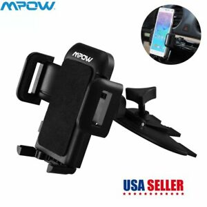 Mpow Universal Car Cd Slot Mobile Phone Gps Mount Holder Sat Stand Cradle Mobile